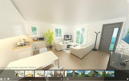 La 3d s 39 invite dans votre d coration d 39 int rieur comptoir for Visite virtuelle maison moderne